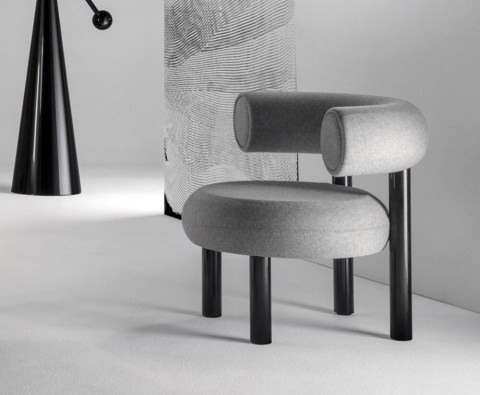 Fat Lounge Chair Grey