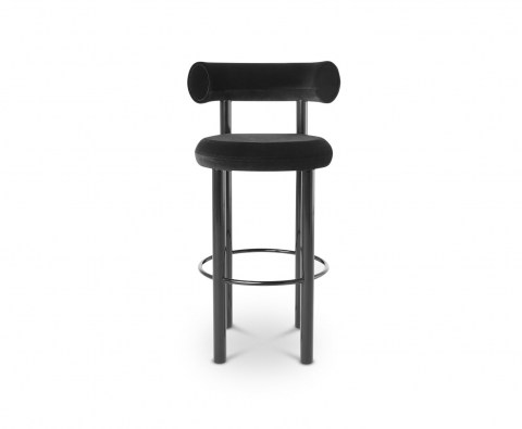 Fat Stool Black Frontview