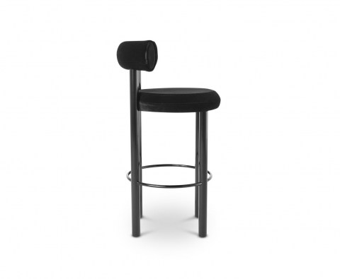 Fat Stool Black Sideview
