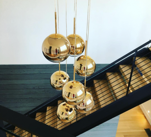 Golden Mirror Ball Staircase