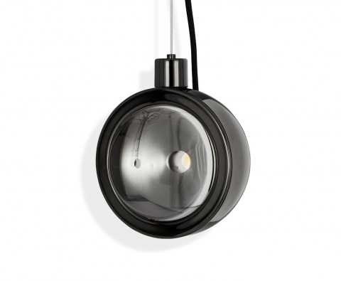 Spot Pendant Light Round Black