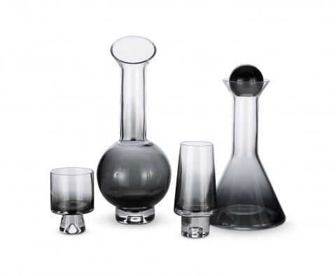 Tank High&Low Ball Glass Black with Decanters