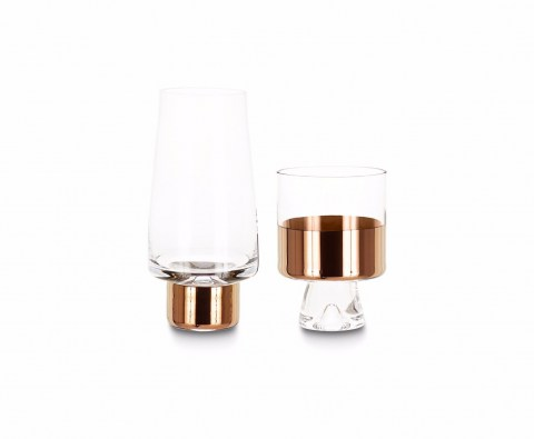 Tank High&Low Ball Glass Copper