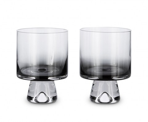 Tank Low Ball Glasses Bklack