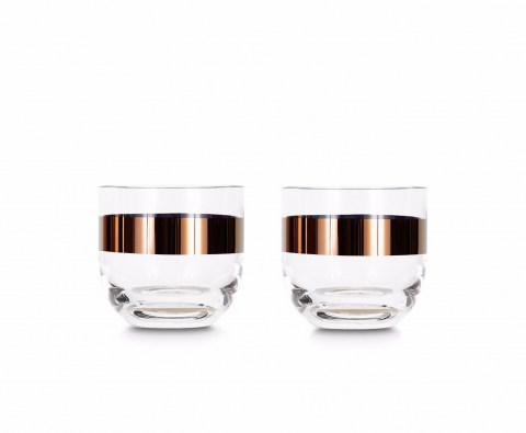 Tank Whiskey Glasses Copper Set